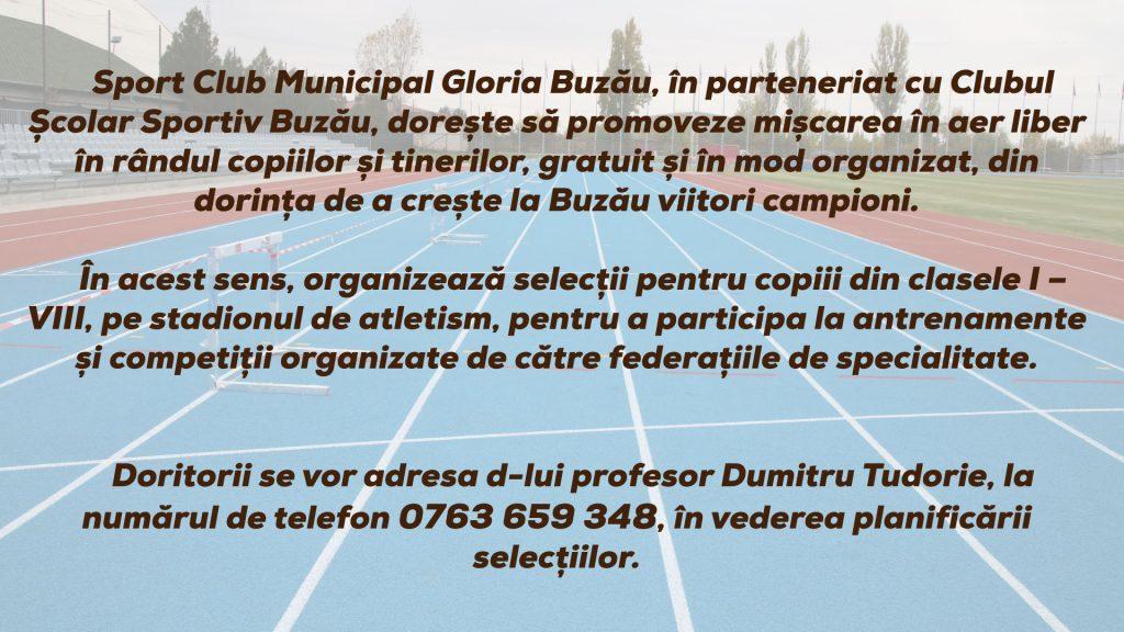 selectii-atletism SCM Gloria Buzău